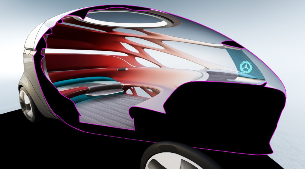 Der Innenraum des Vision Urbanetic bietet Platz für bis zu zwölf Fahrgäste. (Foto: Mercedes-Benz, #2)
