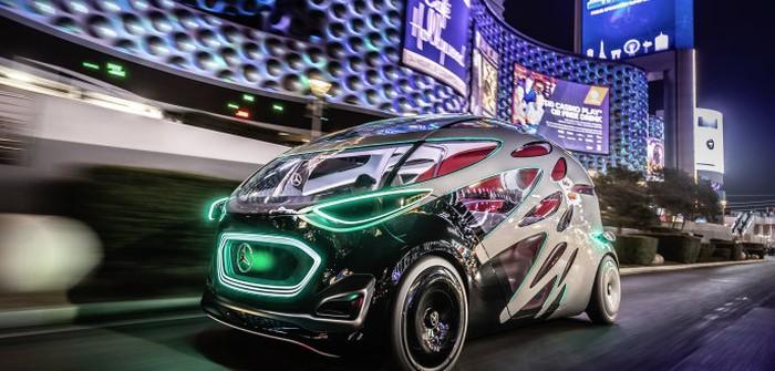 Der Vision Urbanetic unterwegs in Las Vegas. (Foto: Mercedes-Benz)