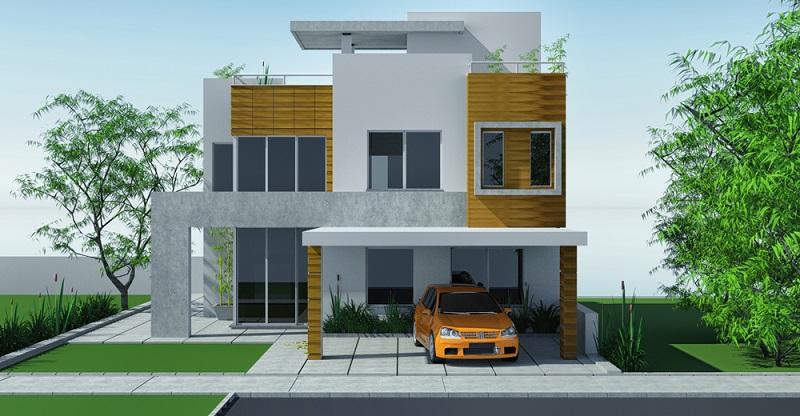 Das Carport sollte passend zum Haus sein ( Foto: Shutterstock-_Whitevector )